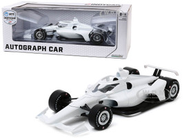 Autograph IndyCar Plain White Chrome Wheels NTT IndyCar Series 1/18 Diecast Model Car Greenlight 11075