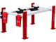 Adjustable Four Post Lift Red White Summit Racing Equipment 1/18 Scale Diecast Model Cars Greenlight 13549