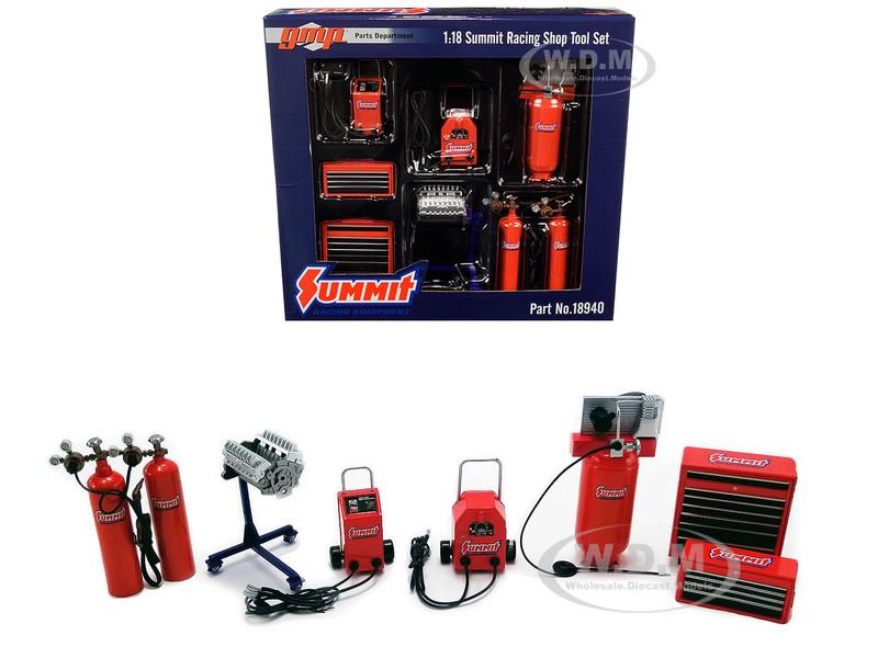 Garage Shop Tool Set of 7 pieces Summit Racing Equipment 1/18 Diecast Replica GMP 18940