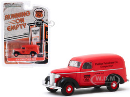 1939 Chevrolet Panel Truck Phillips 66 Phillips Petroleum Co Geological Dept Running on Empty Series 10 1/64 Diecast Model Car Greenlight 41100 A