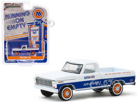 1968 Ford F-100 Pickup Truck Union 76 Auto Service White Blue Stripe Running on Empty Series 10 1/64 Diecast Model Car Greenlight 41100 C