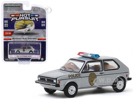 1980 Volkswagen Rabbit Silver Metallic Greensboro Police Department Greensboro North Carolina Hot Pursuit Series 34 1/64 Diecast Model Car Greenlight 42910 D