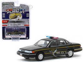 1995 Ford Crown Victoria Police Interceptor Brown Metallic Ohio Highway Patrol Ohio USA Hot Pursuit Series 34 1/64 Diecast Model Car Greenlight 42910 E