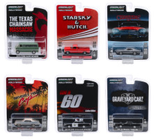Hollywood Series Release 27 Set of 6 pieces 1/64 Diecast Model Cars Greenlight 44870