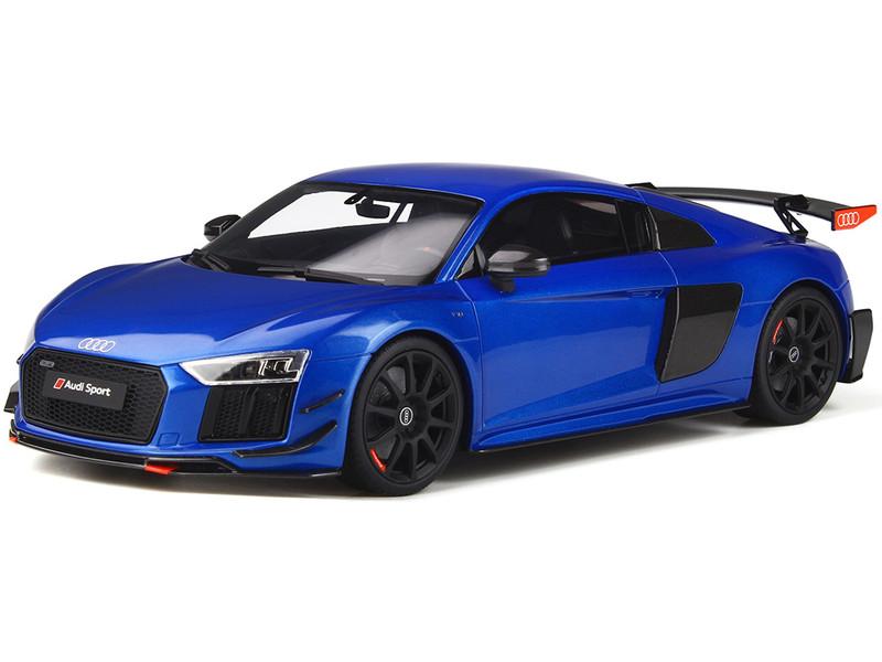 Audi R8 Performance Parts Ara Blue Black Wheels 1/18 Model Car GT Spirit GT254