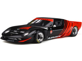 Lamborghini Miura LB-Works ADVAN Black Red 1/18 Model Car GT Spirit Kyosho KJ033