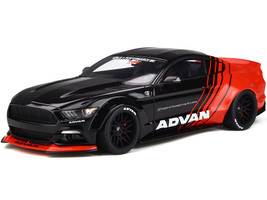 Ford Mustang LB-Works ADVAN Black Red 1/18 Model Car GT Spirit Kyosho KJ035