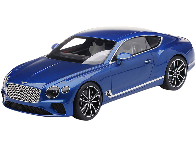 Bentley Continental GT Sequin Blue Metallic 1/18 Model Car Top Speed TS0221
