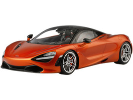 McLaren 720S Azores Orange Metallic Black Top 1/12 Model Car True Scale Miniatures 120002