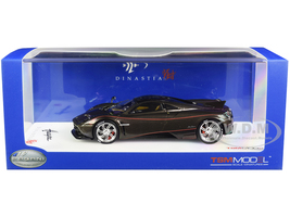 Pagani Huayra Dinastia Yazi Warrior Dragon Gold Carbon Red Stripes Chrome Wheels 1/43 Model Car True Scale Miniatures 430118