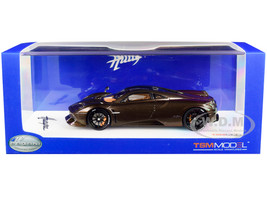 Pagani Huayra Hermes Edition Brown Metallic Black Wheels 1/43 Model Car True Scale Miniatures TSM430402