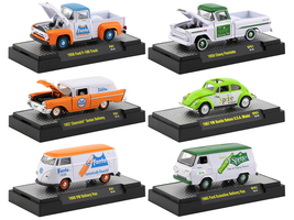 Fanta & Sprite Release Set of 6 Cars Limited Edition 3000 pieces Worldwide 1/64 Diecast Model Cars M2 Machines 52500-F01/SP01