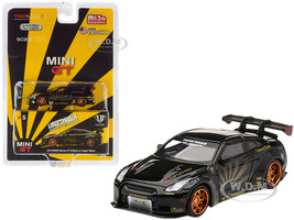 Nissan R35 Type 1 LB Works LibertyWalk Rear Wing Black Copper Wheels Limited Edition 2400 pieces Worldwide 1/64 Diecast Model Car True Scale Miniatures MGT00005