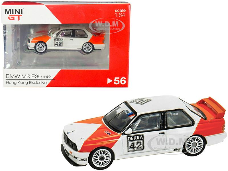 BMW M3 E30 #42 Cor Euser Deutsche Tourenwagen Meisterschaft DTM 1991 Hong Kong Exclusive 1/64 Diecast Model Car True Scale Miniatures MGT00056
