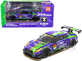 Nissan EVA RT Test Type-01 X Works GT-R #33 Super GT300 Series 2019 Poprace 1/64 Diecast Model Car True Scale Miniatures MGT00090