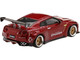 Nissan GT-R R35 Pandem GT Wing Lava Red Limited Edition 3000 pieces Worldwide 1/64 Diecast Model Car True Scale Miniatures MGT00092