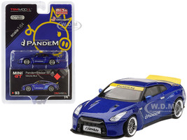Nissan GT-R R35 Pandem Duck Tail Velocity Blue Metallic Limited Edition 3000 pieces Worldwide 1/64 Diecast Model Car True Scale Miniatures MGT00093
