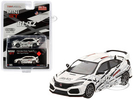 Honda Civic Type R FK8 RHD Right Hand Drive White BLITZ Limited Edition 1200 pieces Worldwide 1/64 Diecast Model Car True Scale Miniatures MGT00095