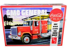 Skill 3 Model Kit GMC General Truck Tractor Coca Cola 1/25 Scale Model AMT AMT1179