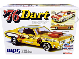 Skill 2 Model Kit 1976 Dodge Dart Sport Two Figurines 3 in 1 Kit 1/25 Scale Model MPC MPC925