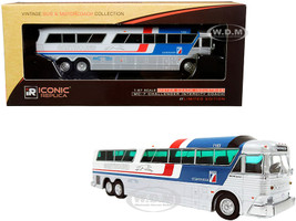 1970 MCI MC-7 Challenger Intercity Motorcoach Greyhound Scenicruiser Destination Washington Pepsi paint scheme Vintage Bus & Motorcoach Collection 1/87 HO Diecast Model Iconic Replicas 87-0183