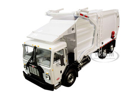 Peterbilt 520 Garbage Truck Wittke Front End Load Refuse Trash Bin White 1/34 Diecast Model First Gear 10-4193