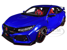 Honda Civic Type R FK8 Brilliant Sporty Blue Metallic 1/18 Model Car Autoart 73269