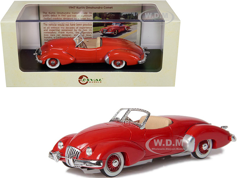 1947 Kurtis Omohundro Comet Roadster Red Limited Edition 250 pieces Worldwide 1/43 Model Car Esval Models EMUS43026 A