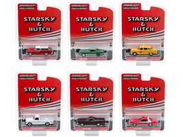 Hollywood Special Edition Starsky and Hutch 1975 1979 TV Series Set of 6 pieces 1/64 Diecast Model Cars Greenlight 44855