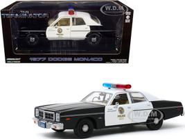 1977 Dodge Monaco Metropolitan Police Black White The Terminator 1984 Movie 1/24 Diecast Model Car Greenlight 84101