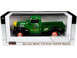 1941 Plymouth Pickup Truck Oliver Green 1/24 Diecast Model Car SpecCast SCT738
