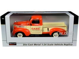1941 Plymouth Pickup Truck Case Orange Yellow 1/24 Diecast Model Car SpecCast ZJD1857