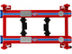 Adjustable Four Post Lift STP Blue Red for 1/18 Scale Diecast Model Cars Greenlight 13555