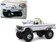 1979 Ford F-250 XLT Monster Truck 48-Inch Tires White Kings of Crunch Series 1/18 Diecast Model Car Greenlight 13556