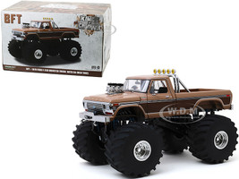 1978 Ford F-350 Ranger Lariat Monster Truck 66-Inch Tires BFT Brown Kings of Crunch Series 1/18 Diecast Model Car Greenlight 13557