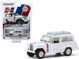 1971 Jeep Jeepster Commando Roof Rack White Stripes Hurst Edition Hobby Exclusive 1/64 Diecast Model Car Greenlight 30115