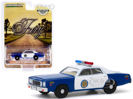 1975 Plymouth Fury Blue White Osage County Sheriff Hobby Exclusive 1/64 Diecast Model Car Greenlight 30151