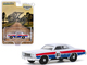 1976 Plymouth Fury #86 White Red Blue Stripes Hazzard County Road Rally Hobby Exclusive 1/64 Diecast Model Car Greenlight 30156