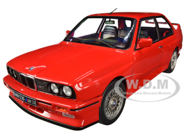 1986 BMW E30 M3 Red 1/18 Diecast Model Car Solido S1801502