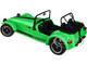 Caterham Seven 275R Green Metallic Black Stripes 1/18 Diecast Model Car Solido S1801801