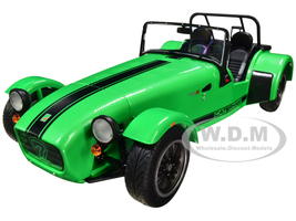 Caterham Seven 275R Green Metallic Black Stripes 1/18 Diecast Model Car Solido S1801801