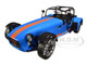 Caterham Seven Academy Blue Metallic Orange Stripes 1/18 Diecast Model Car Solido S1801802