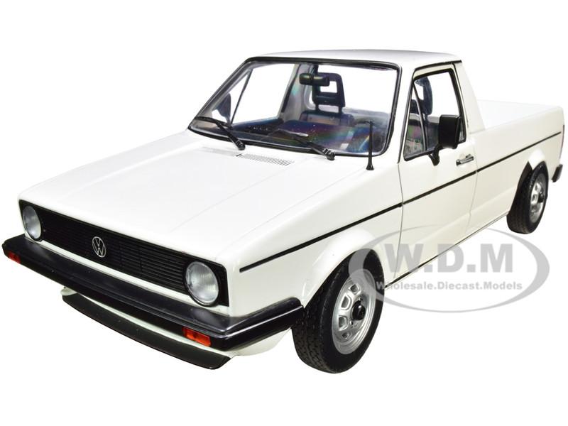 1982 Volkswagen Caddy MKI Pickup Truck White 1/18 Diecast Model Car Solido S1803501