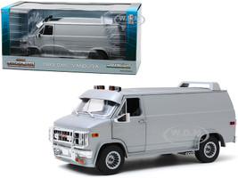 1983 GMC Vandura Van Custom Silver Metallic 1/18 Diecast Model Car Greenlight 13568
