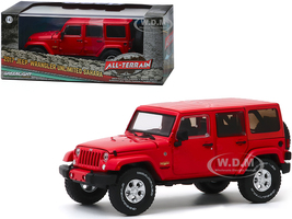 2017 Jeep Wrangler Unlimited Sahara Firecracker Red Clearcoat All-Terrain Series 1/43 Diecast Model Car Greenlight 86177