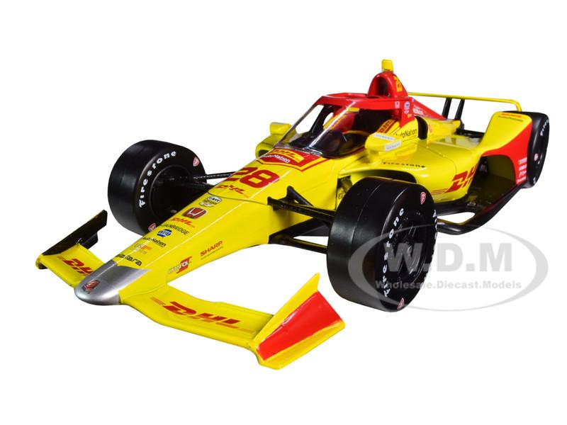 Dallara IndyCar #28 Ryan Hunter-Reay DHL Andretti Autosport NTT IndyCar Series 2020 1/18 Diecast Model Car Greenlight 11081