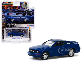 2009 Ford Mustang GT Dark Blue 0-178 MPH In 7.9 Seconds. On Street Tires BFGoodrich Vintage Ad Cars Hobby Exclusive 1/64 Diecast Model Car Greenlight 30139