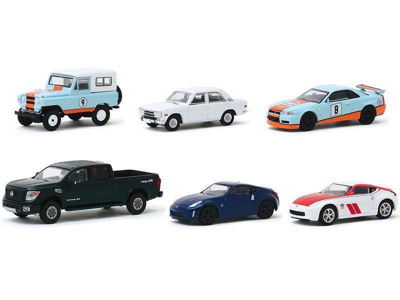 Tokyo Torque Series 8 Set of 6 pieces 1/64 Diecast Model Cars Greenlight 47060