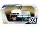 Volkswagen Type 2 T1 Pickup White Yellow Wood Paneling Surfboard 1/24 Diecast Model Car Motormax 79560