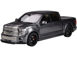 2017 Ford Shelby F-150 Super Snake Pickup Truck Bed Cover Magnetic Metallic Gray Black Stripes 1/18 Model Car GT Spirit ACME US022